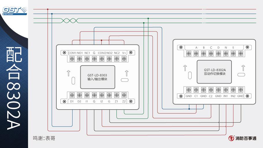 海湾GST-LD-8303输入/输出模块接线